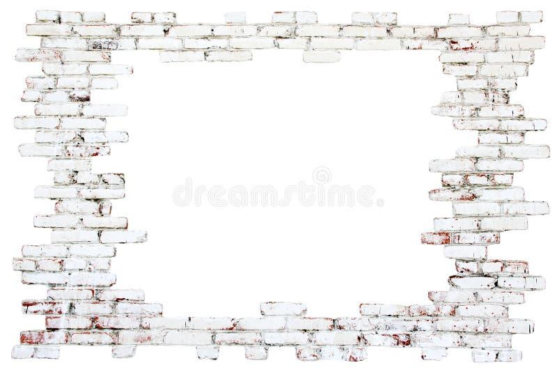 框架-老砖墙 库存图片