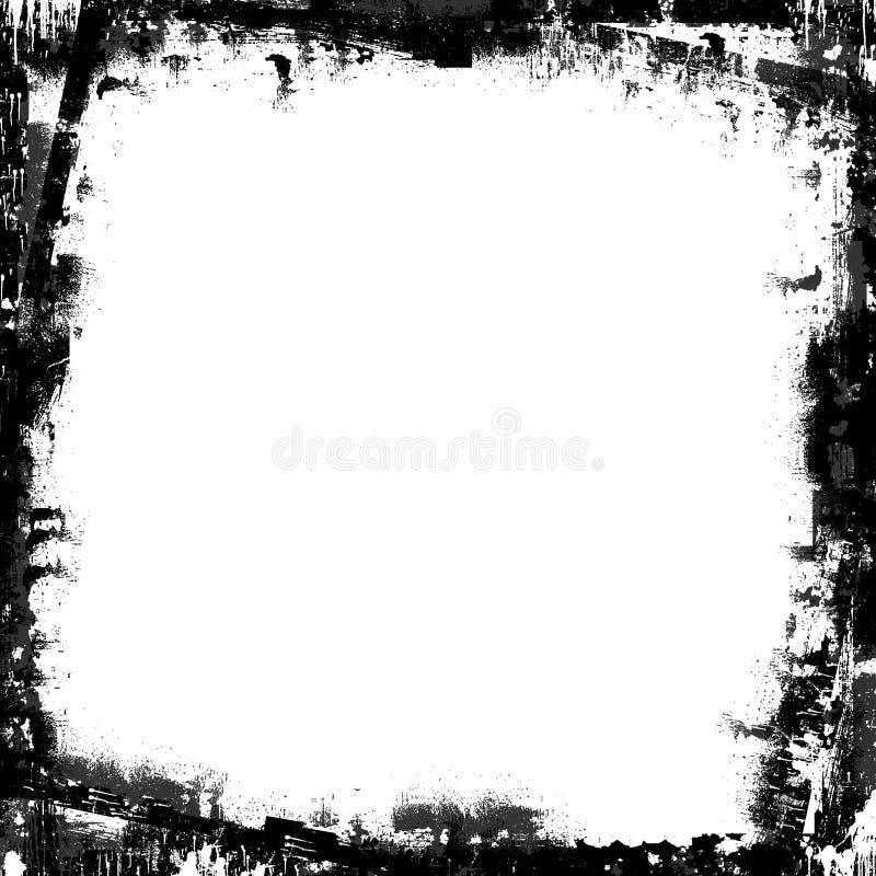 框架grunge屏蔽重叠被绘的纹理 皇族释放例证
