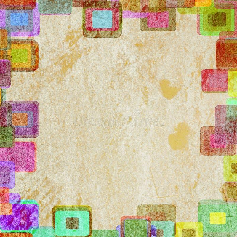框架grunge正方形 向量例证
