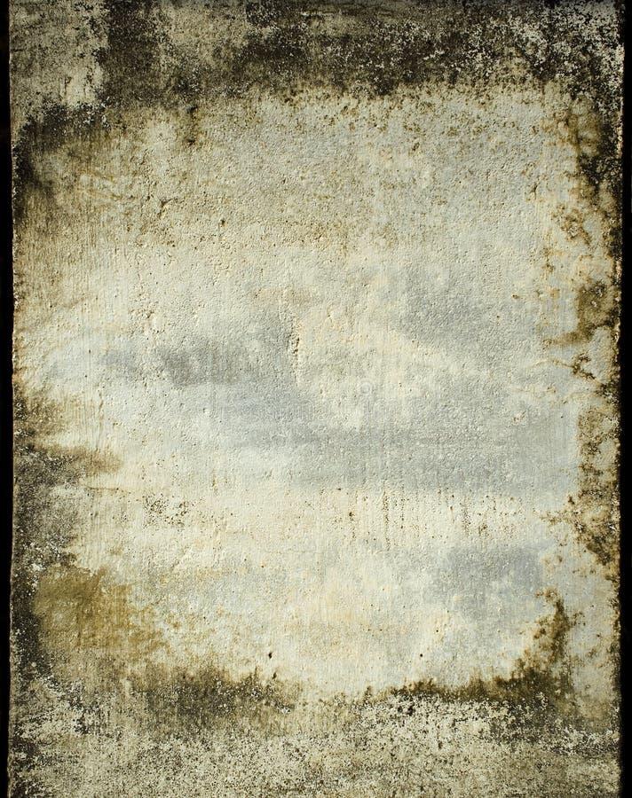 框架grunge膏药被弄脏的墙壁 库存照片
