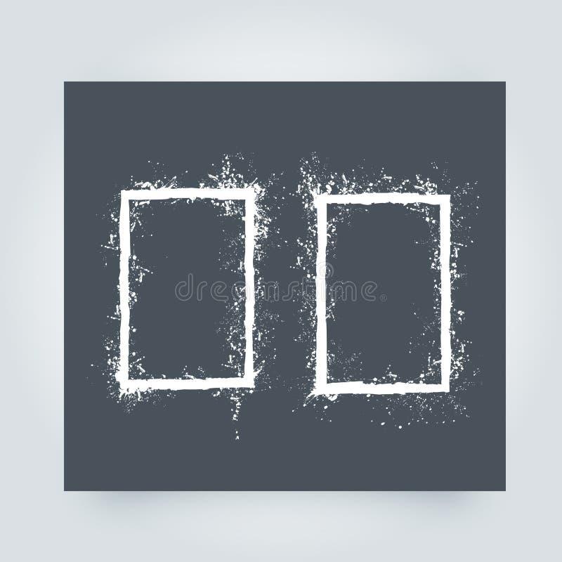 框架grunge 难看的东西边界背景 抽象模板向量 库存例证