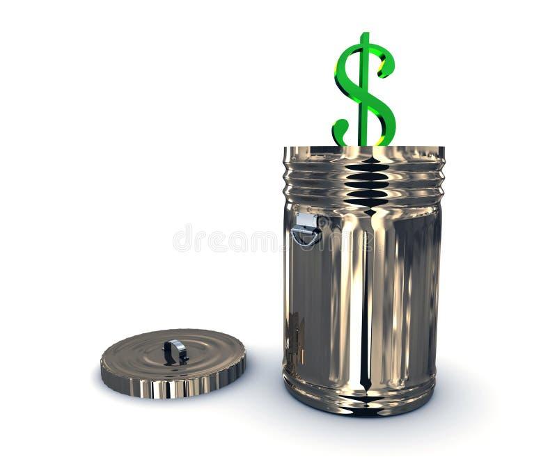 框美元回收 库存例证