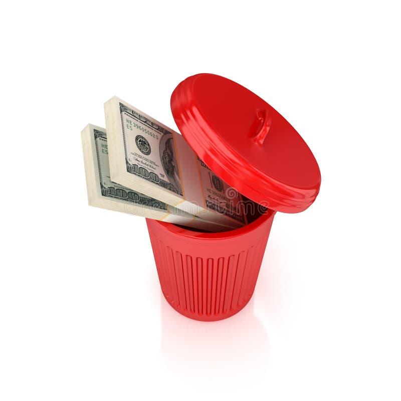 框美元装箱回收红色 向量例证