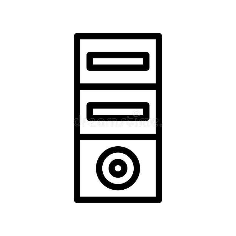 案件个人计算机的辅助部件商标或象例证 向量例证