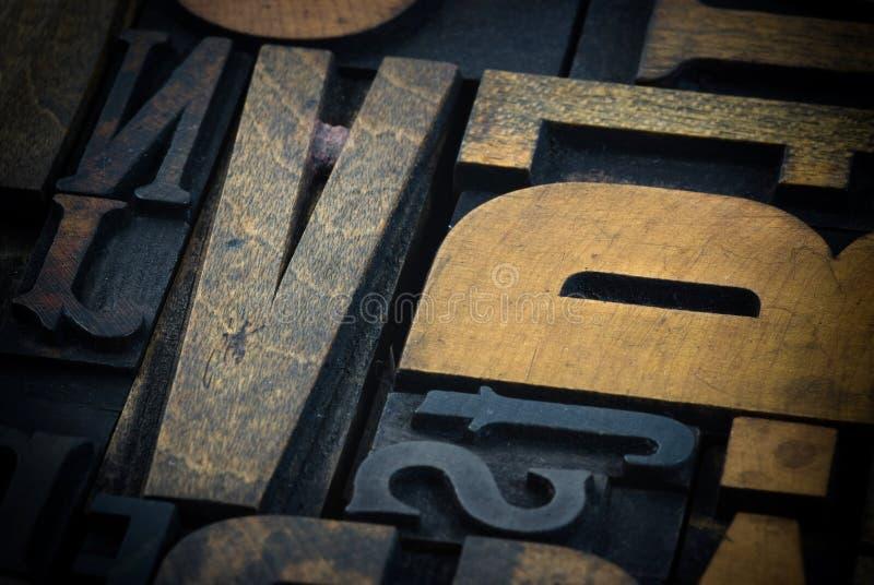 案件信函打印木头 库存照片