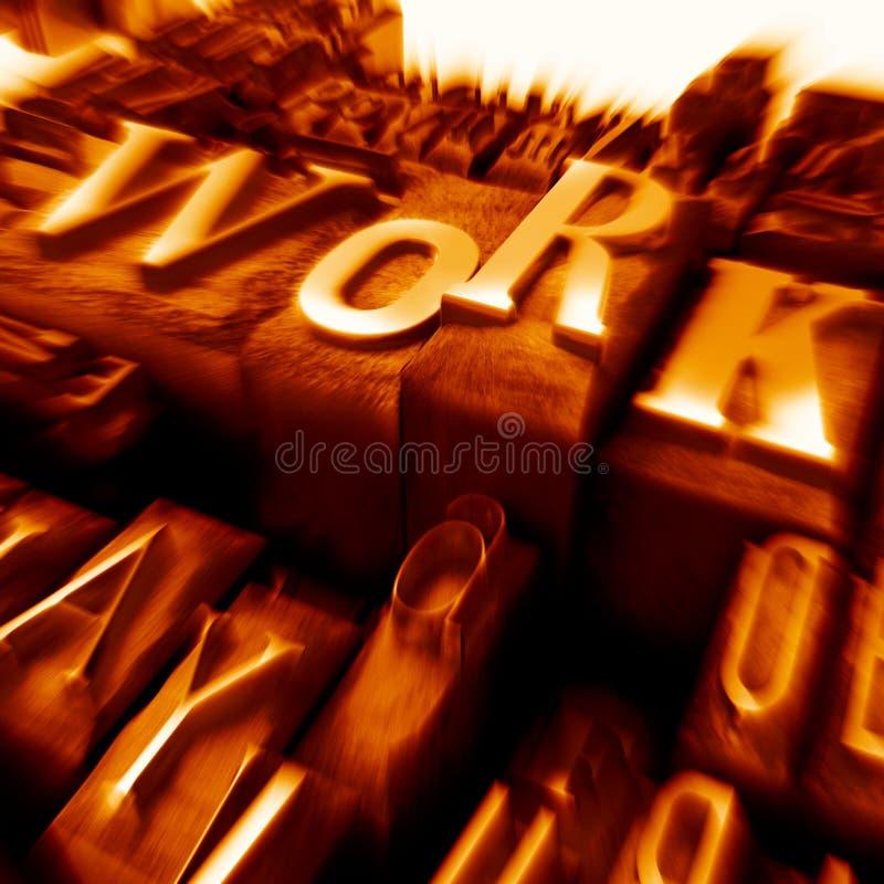案件在橙色打印上写字运作 库存图片