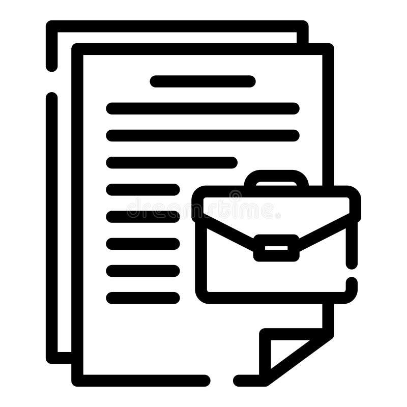 案件文件象,概述样式 向量例证