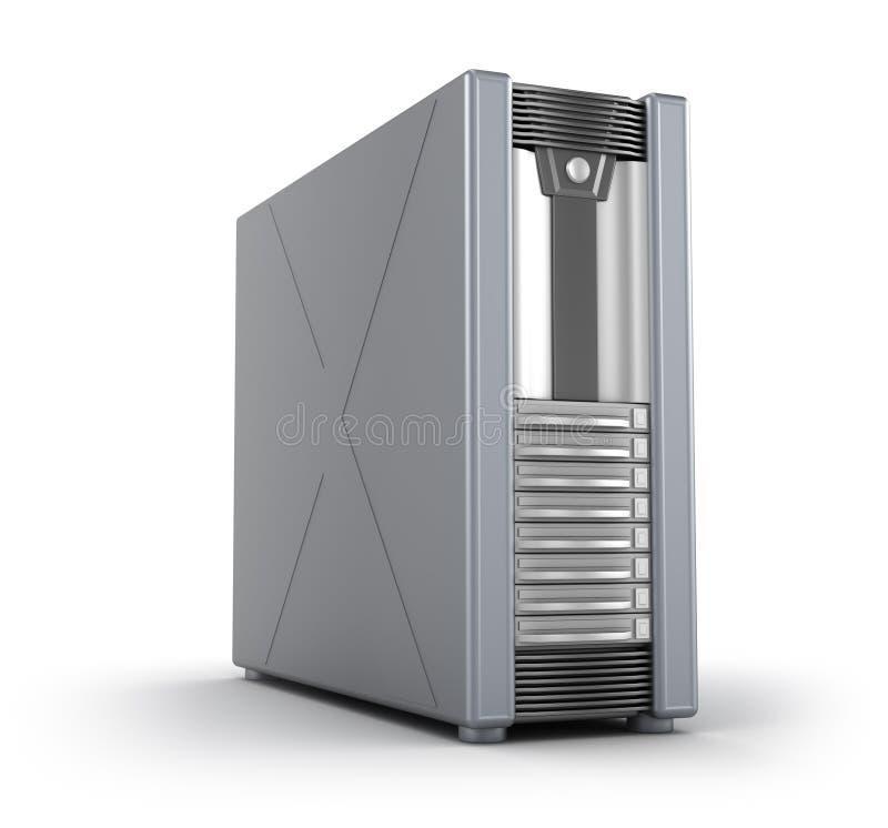 案件服务器白色 库存例证