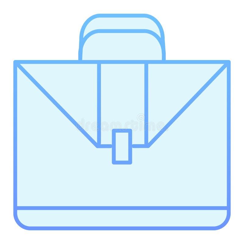 手提箱平的象 在时髦平的样式的公文包蓝色象 案件梯度样式设计,设计为网和应用程序 EPS 库存例证