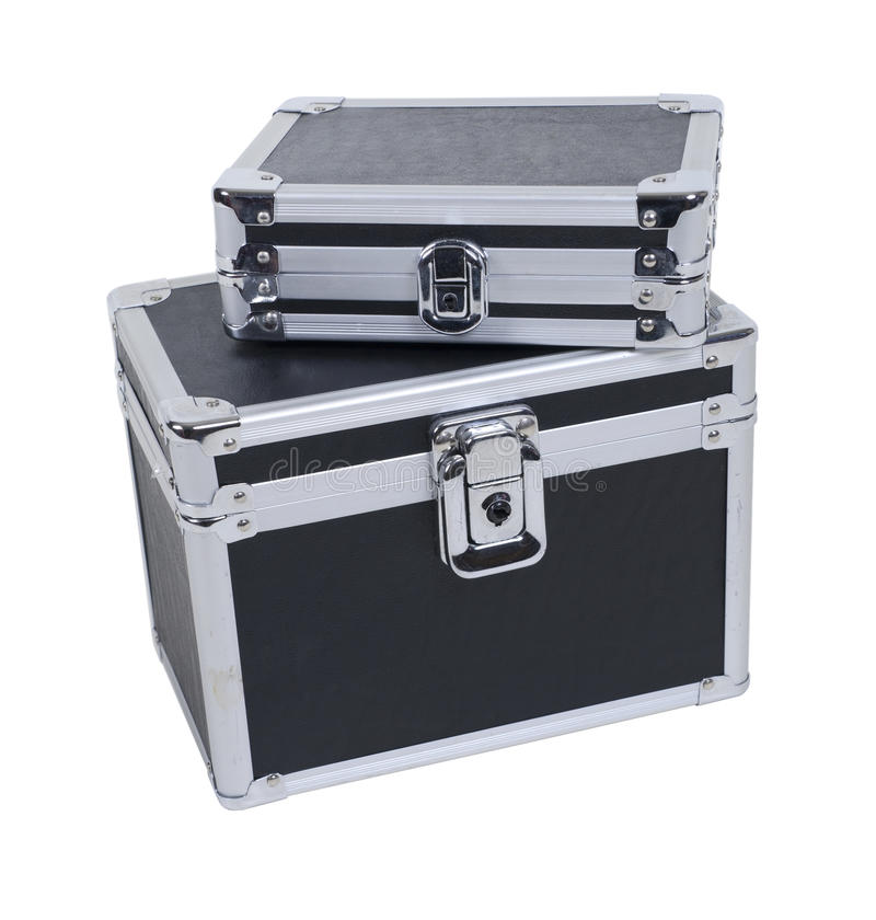 案件被加强的角落皮箱 库存照片