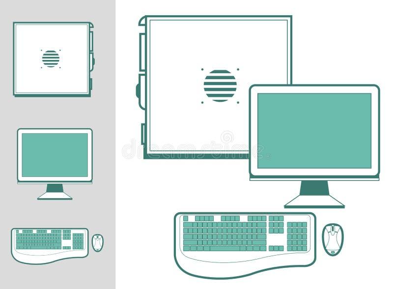 案件计算机键盘监控程序鼠标 库存例证