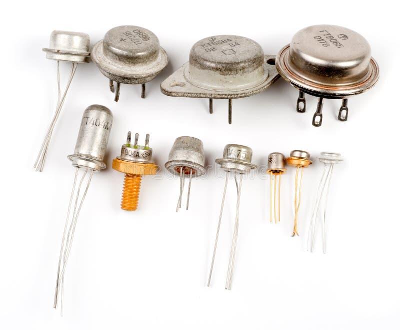 案件金属晶体管 免版税库存照片