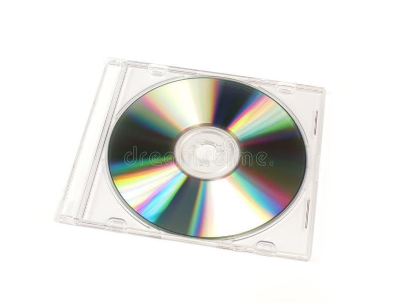 案件CD的闭合的dvd珠宝模板 免版税库存照片