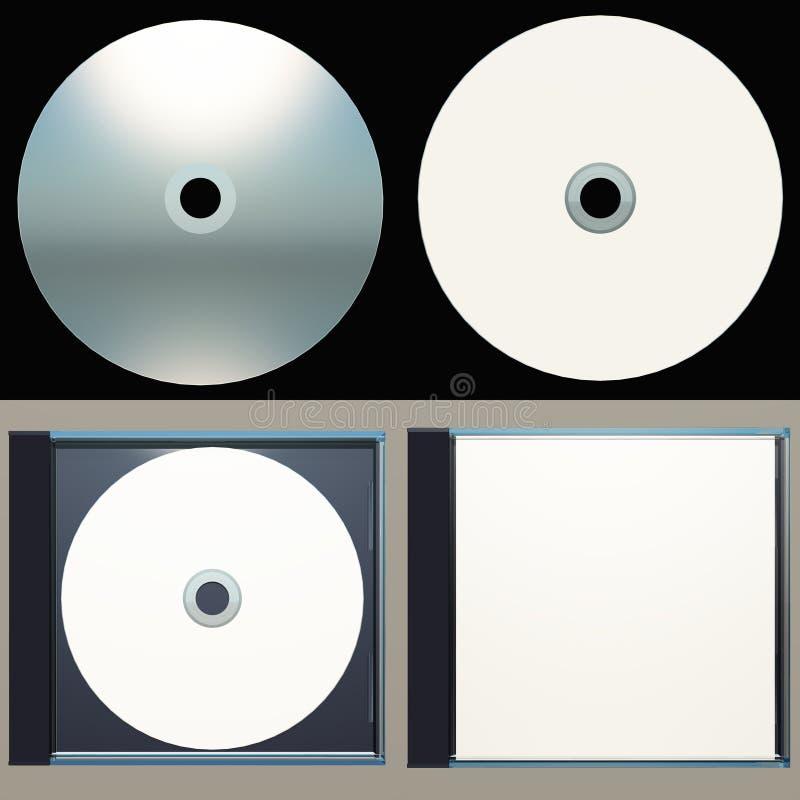 案件CD设计包装 库存例证