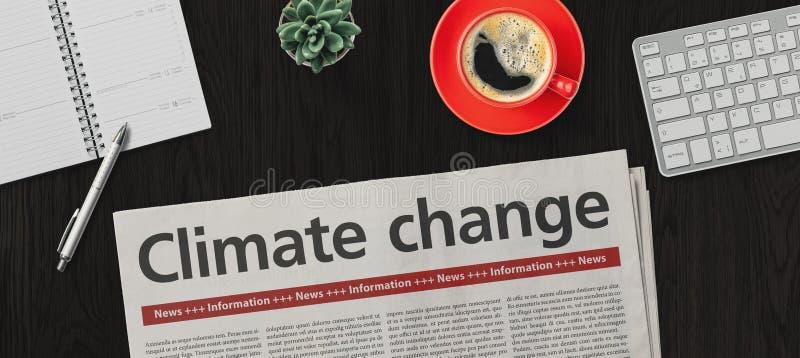 桌上报纸 — 气候变化 库存照片