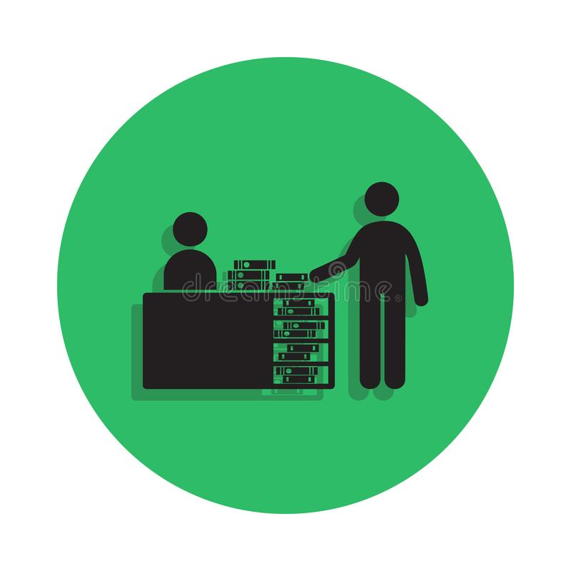 桌例证的图书管理员 图书馆象的元素流动概念和网apps的 桌象的详细的图书管理员 向量例证