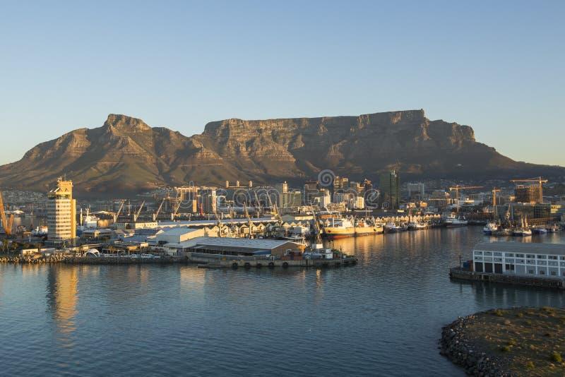 桌山开普敦南非看法  库存照片