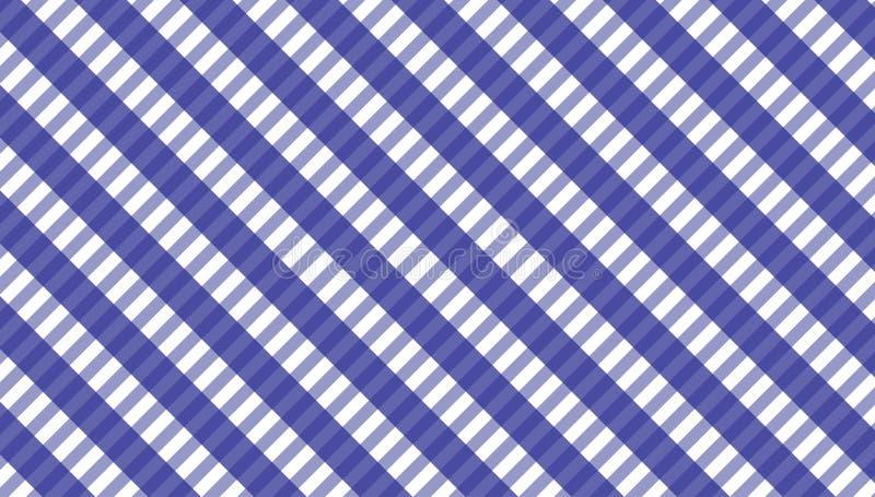 桌布格子花呢披肩的,背景,桌布方格花布样式为 库存例证