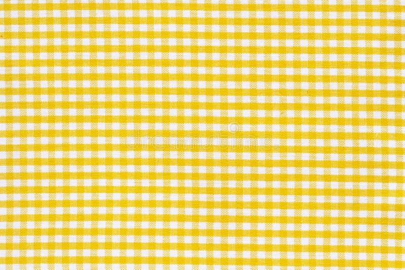 桌布纹理空白黄色 向量例证
