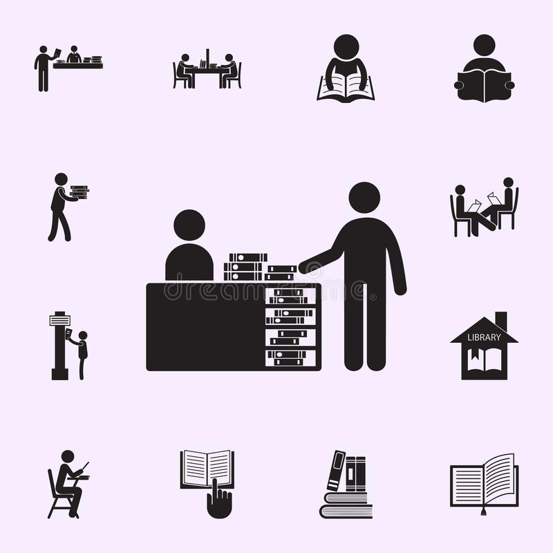 桌象的图书管理员 r 向量例证