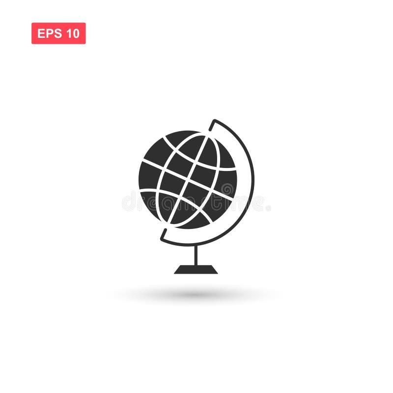 桌面世界地球地球象传染媒介隔绝了 库存例证