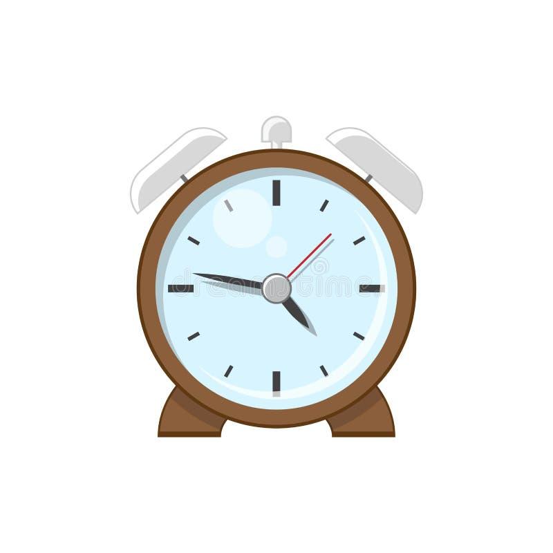 桌面减速火箭的闹钟 向量例证