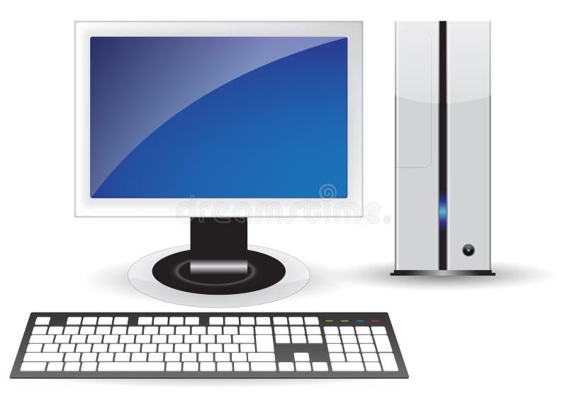桌面查出的个人计算机 库存例证