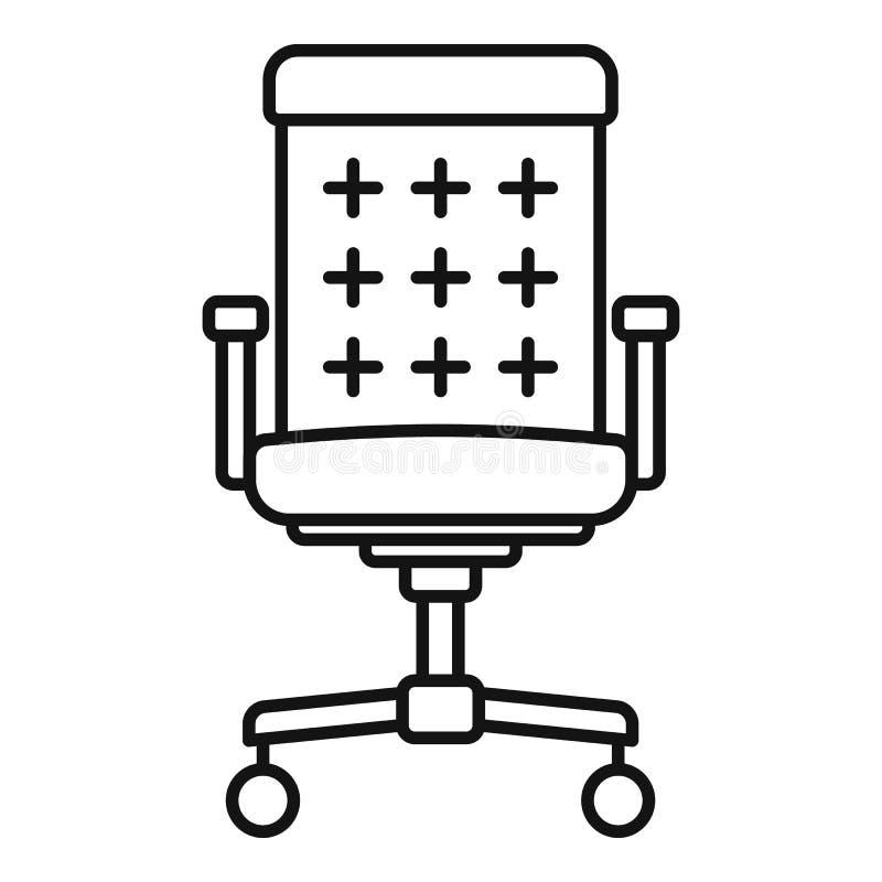 桌面椅子象,概述样式 向量例证