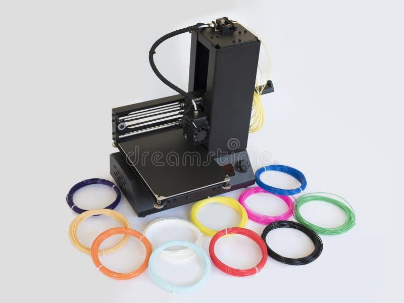 桌面3D打印机 免版税库存照片