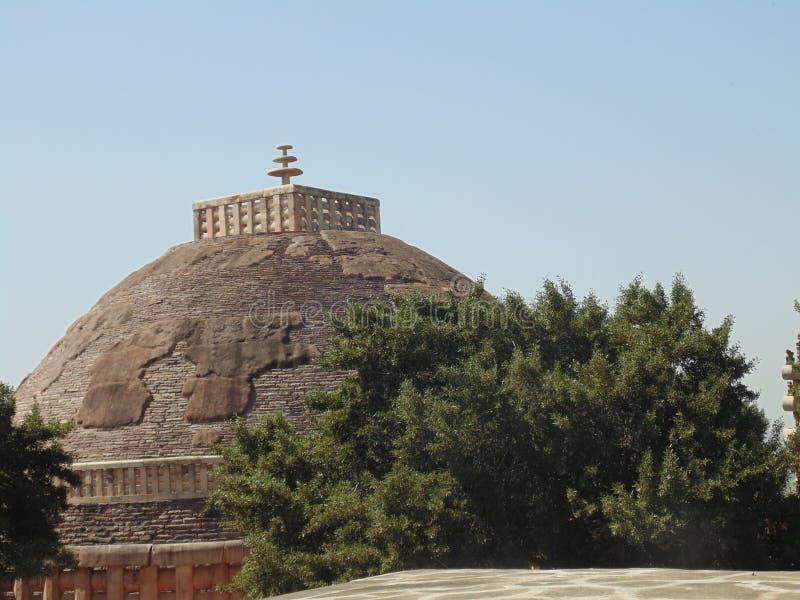 桑吉stupas 免版税库存照片