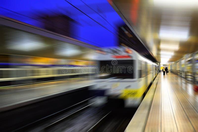 桑坦德火车站被弄脏的看法  库存图片