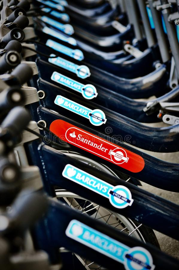 桑坦德自行车聘用 库存图片