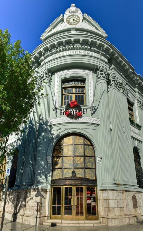 桑坦德银行- Ponce,波多黎各 免版税库存图片