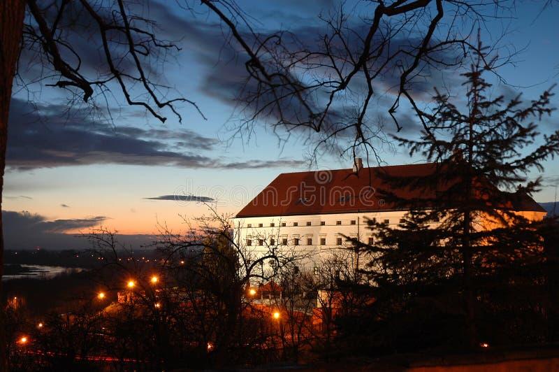 桑多梅日, Zamek,城堡在老镇 免版税库存照片