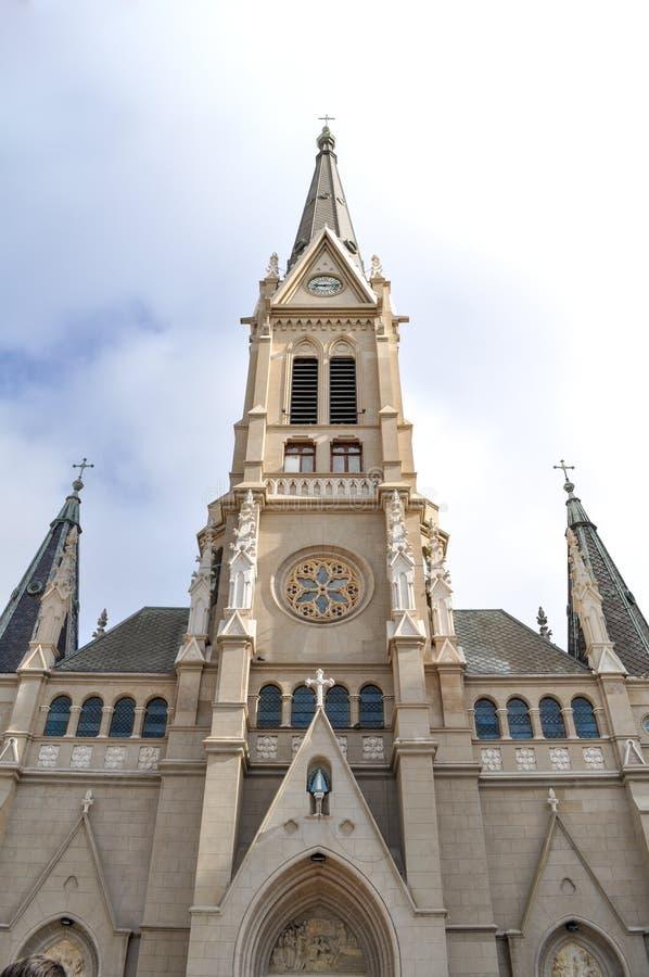 桑托斯佩德罗y塞西莉亚大教堂在马德普拉塔,布宜诺斯艾利斯 库存照片