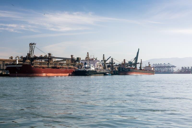 桑托斯,巴西港  免版税库存图片