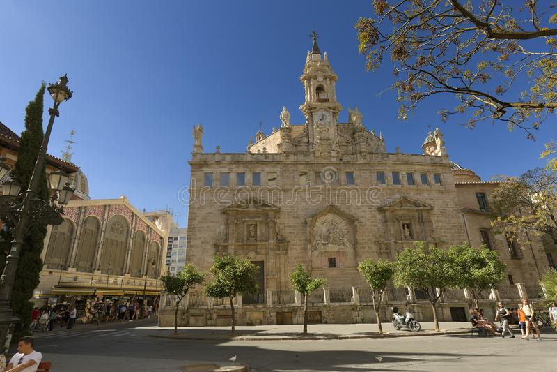 桑托斯Juanes皇家教区在巴伦西亚 图库摄影