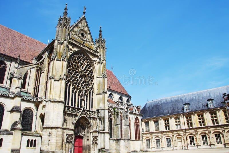桑斯-法国的老镇大教堂  免版税图库摄影