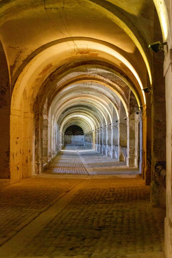 桑特弗尔朗城堡的槽枥 库存图片