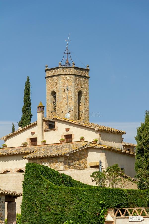 桑特格尼斯教会在Monells 免版税库存照片