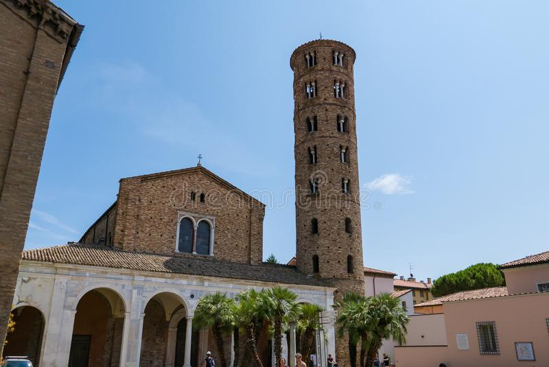 桑特Apollinare Nuovo大教堂在拉韦纳 E 图库摄影