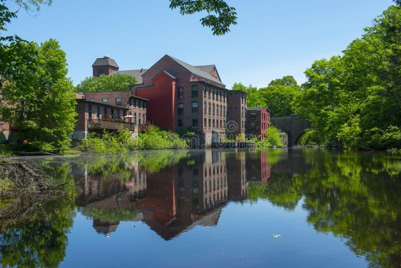 桑福德磨房,梅德韦,马萨诸塞,美国 库存图片