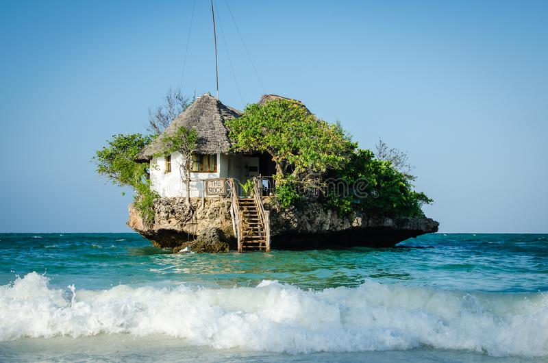 桑给巴尔暑假在海岛上的一个假日生动描述启发 库存图片