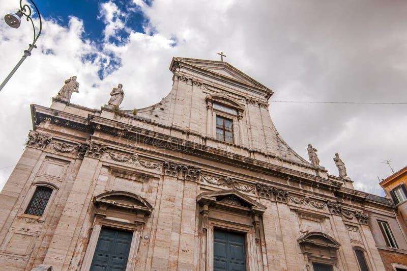 桑蒂马丁纳角e路卡教会在罗马 免版税图库摄影