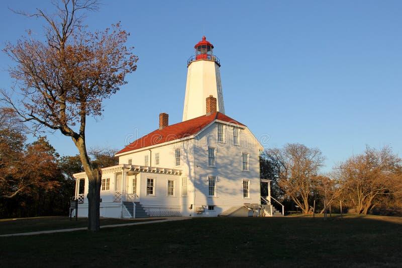 桑迪胡克灯塔是美国最古老的灯塔,建于1764年 库存图片