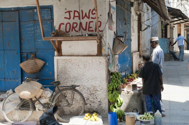 桑给巴尔市场摊位 图库摄影