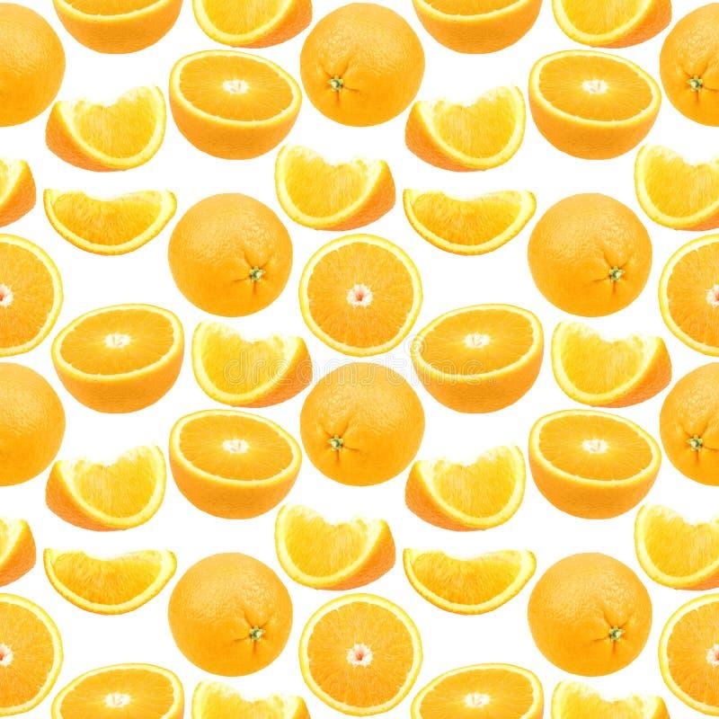 桔子的无缝的样式 图库摄影
