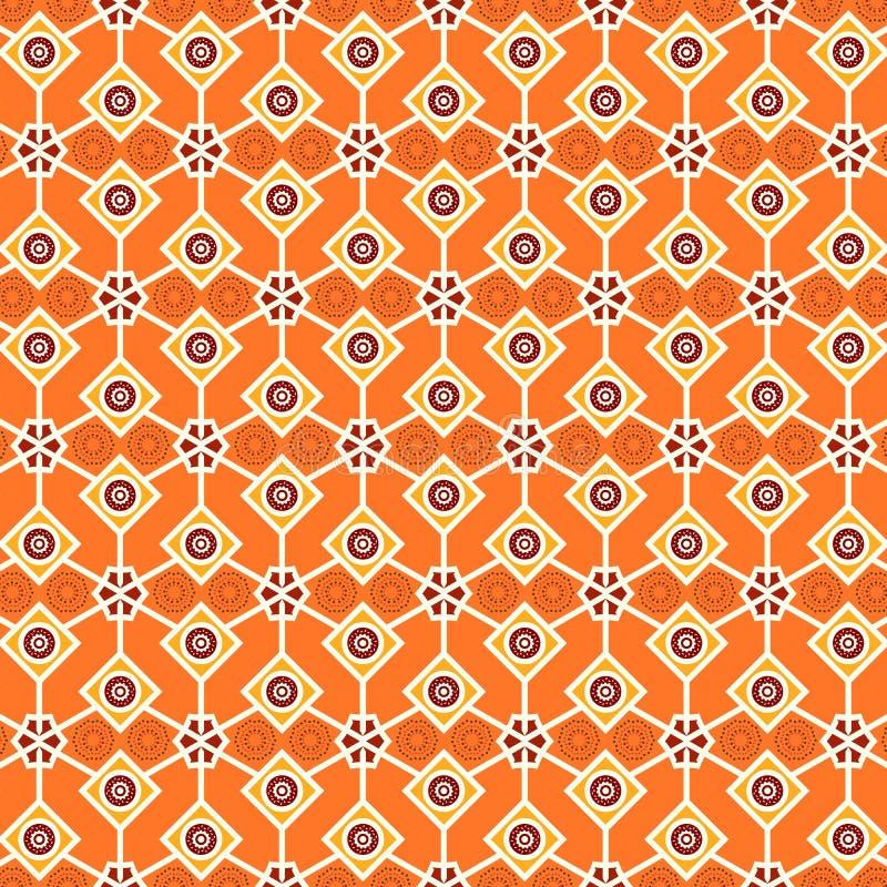 桔子装饰了无缝的装饰的菱形样式 向量例证