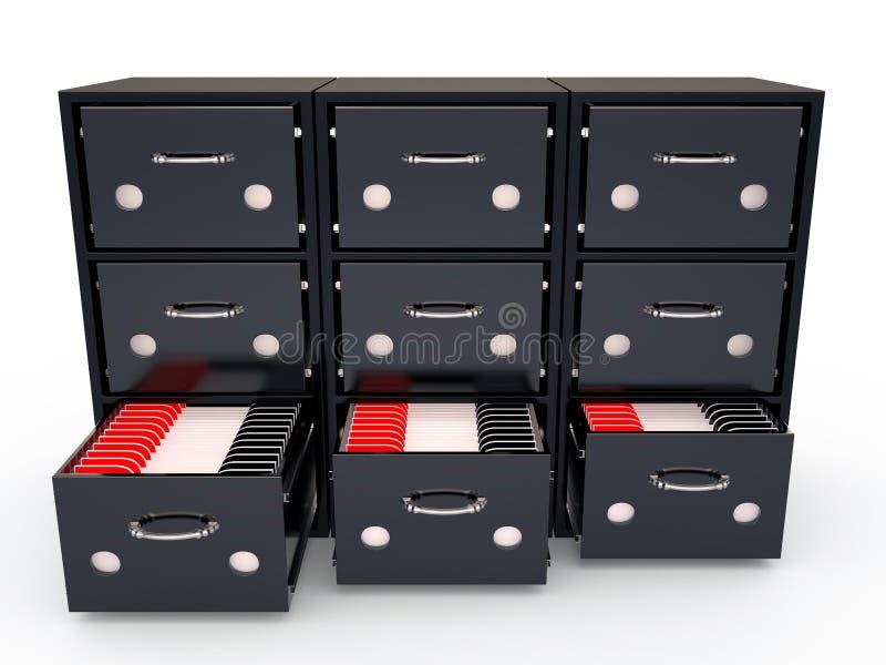 档案橱柜, 3D 皇族释放例证