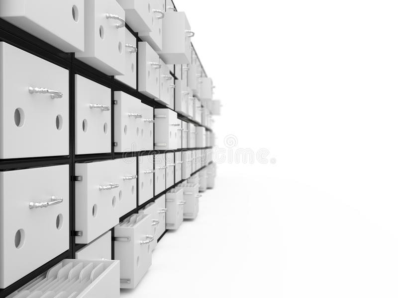 档案橱柜, 3D 库存例证